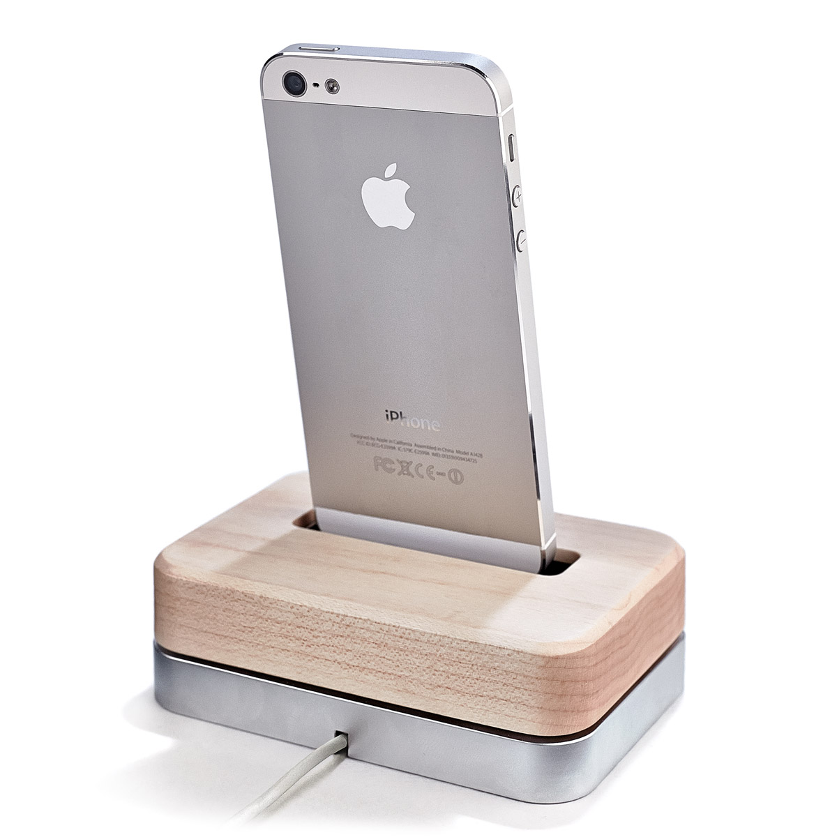 Maple iPhone Dock - IPHONE-SE-5-5S-5C