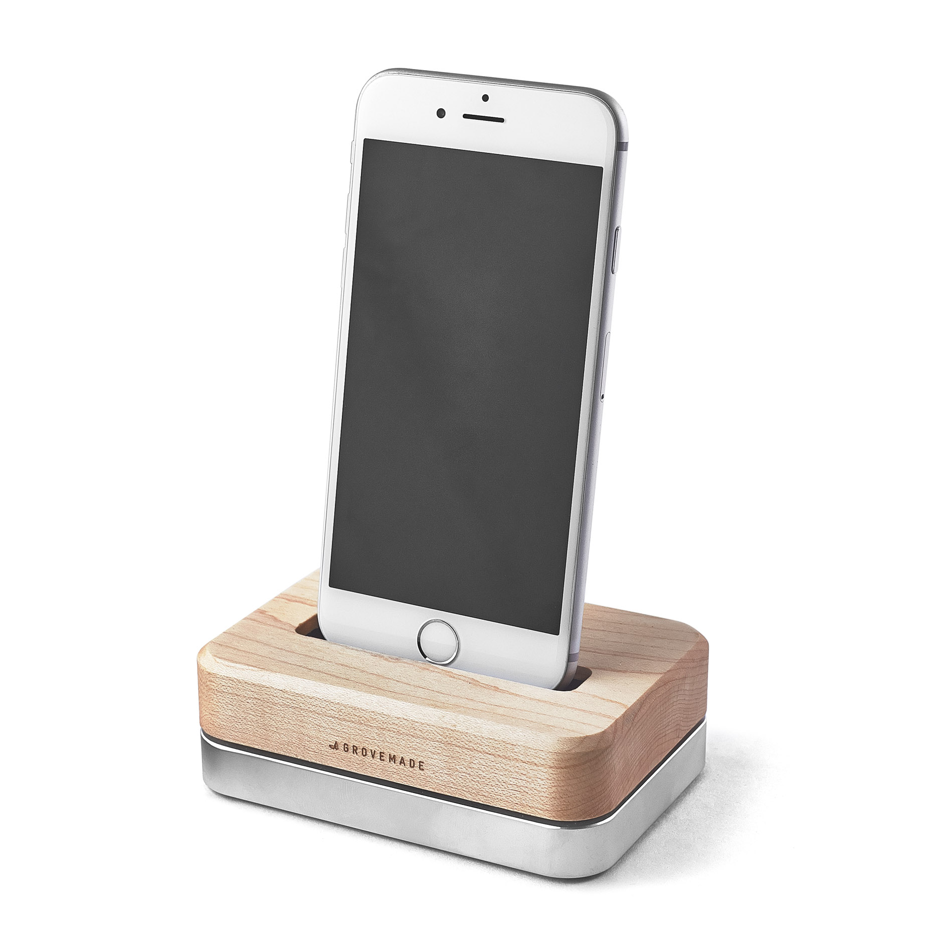 wooden iphone docking station wooden iphone station 3 lb black stainless steel 16526