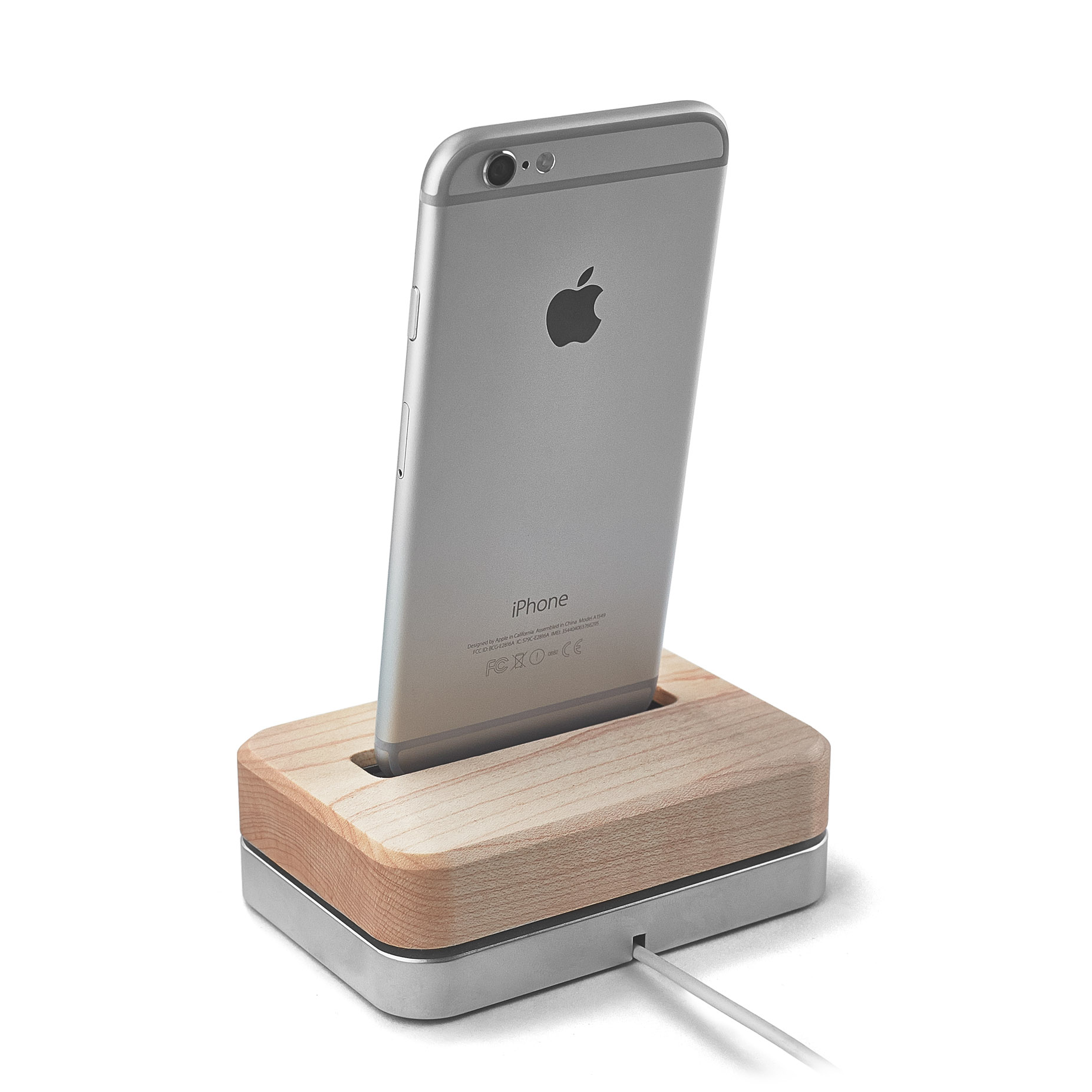 iphone 6 dock wooden iphone station 3 lb black stainless steel 11322