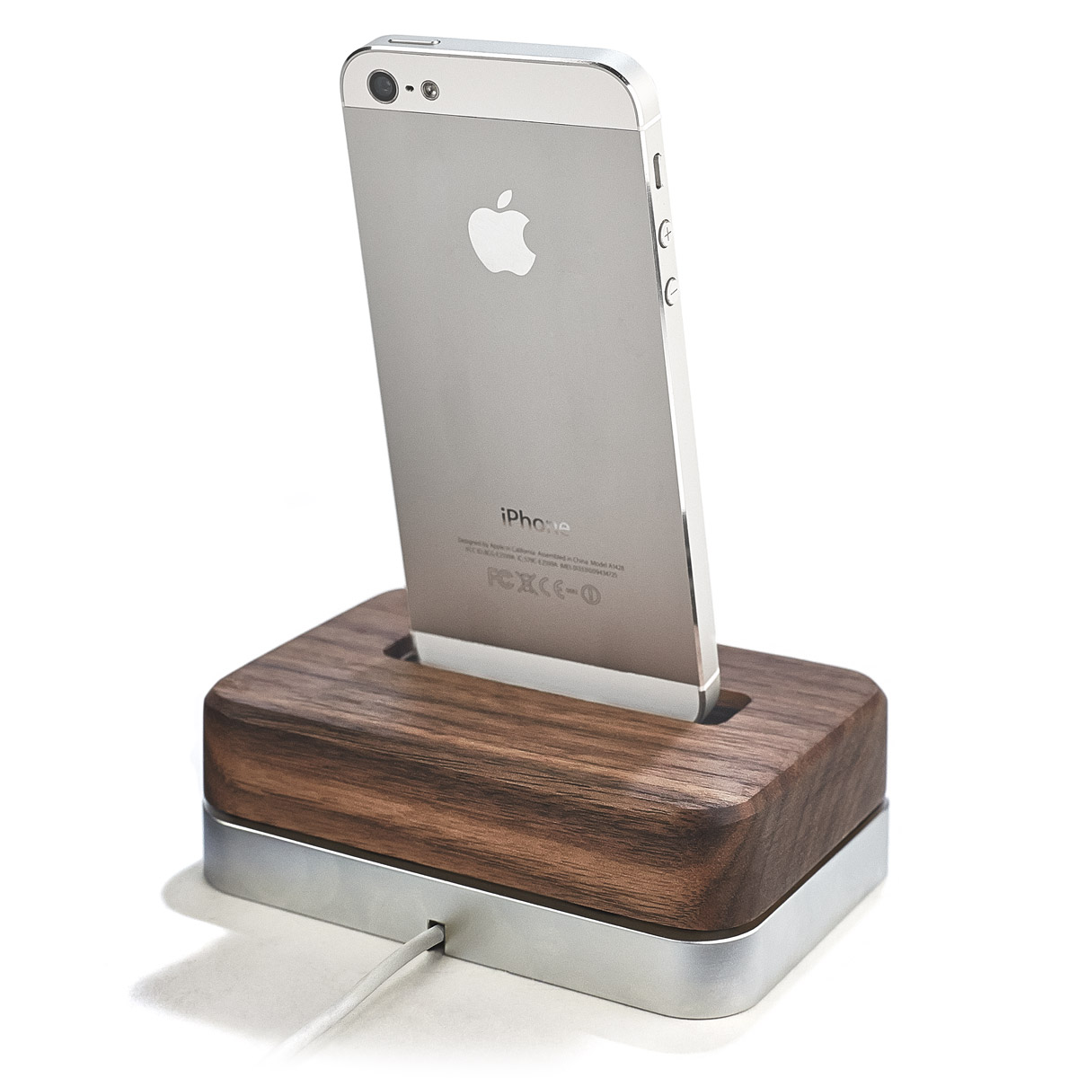 Defunct - WALNUT-IPHONE-DOCK-STAINLESS-STEEL