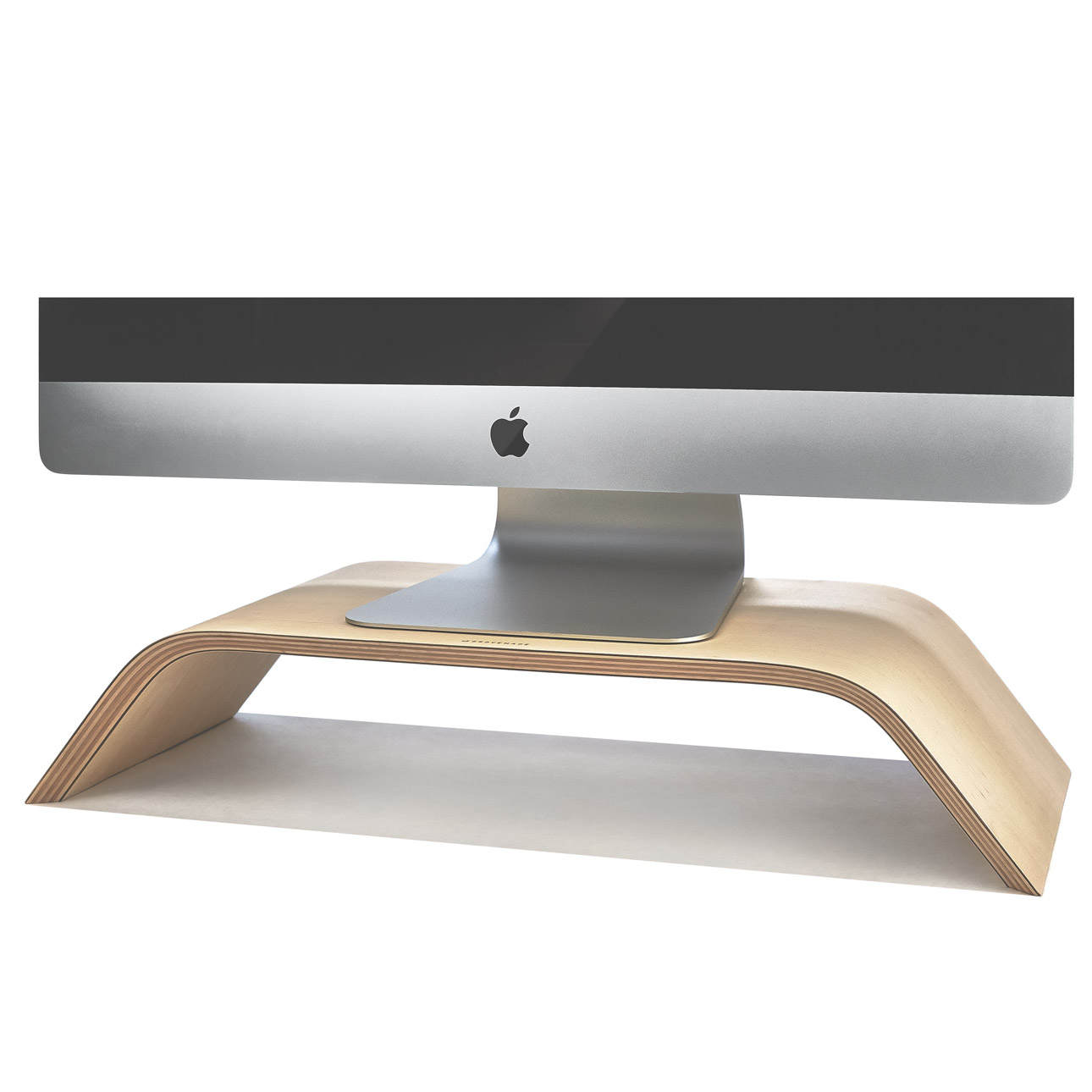Wood Monitor Stand & iMac Riser in Maple by Grovemade