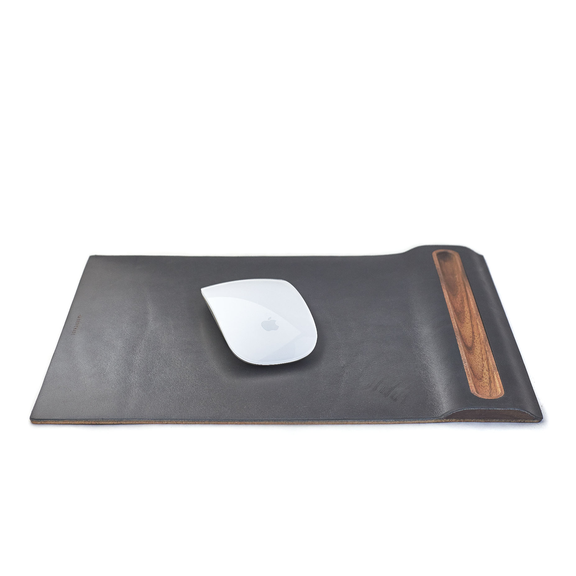 Leather & Walnut Mouse Pad -