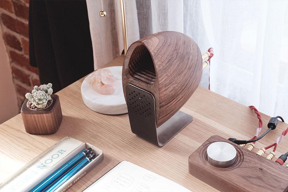 Grovemade Walnet Desk Speakers