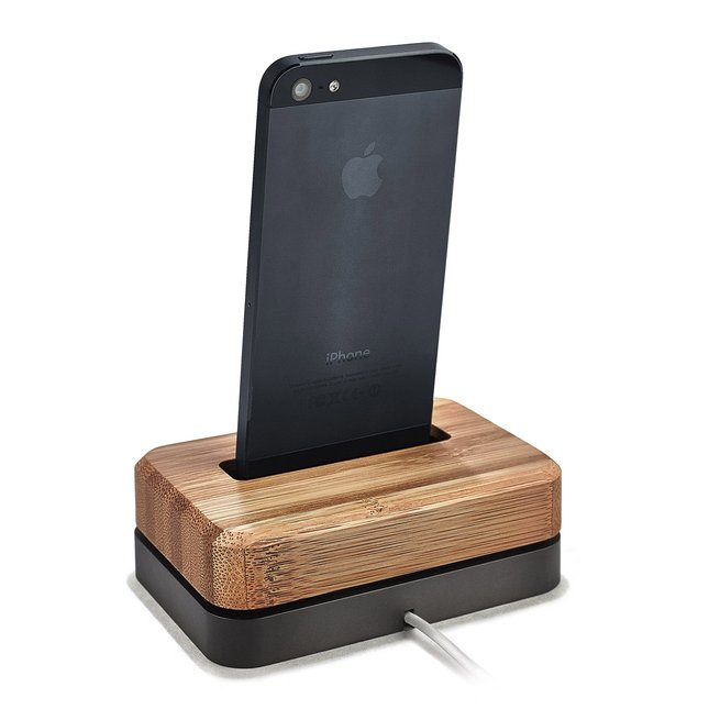 BAMBOO IPHONE DOCK - BLACK