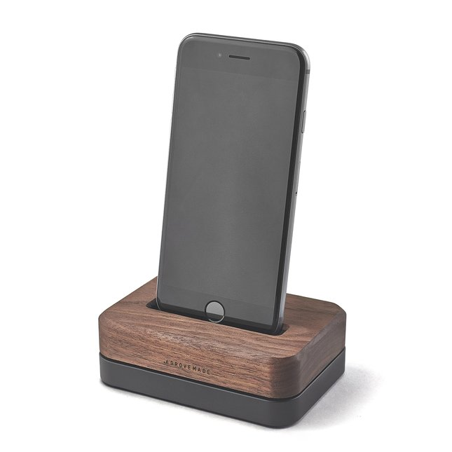 wood iphone docks solid metal bases for 7 se 5 6 6s plus. Black Bedroom Furniture Sets. Home Design Ideas
