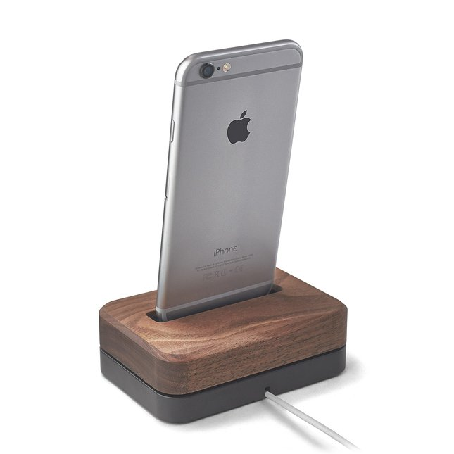 Walnut iPhone Dock - IPHONE-6-6S-7