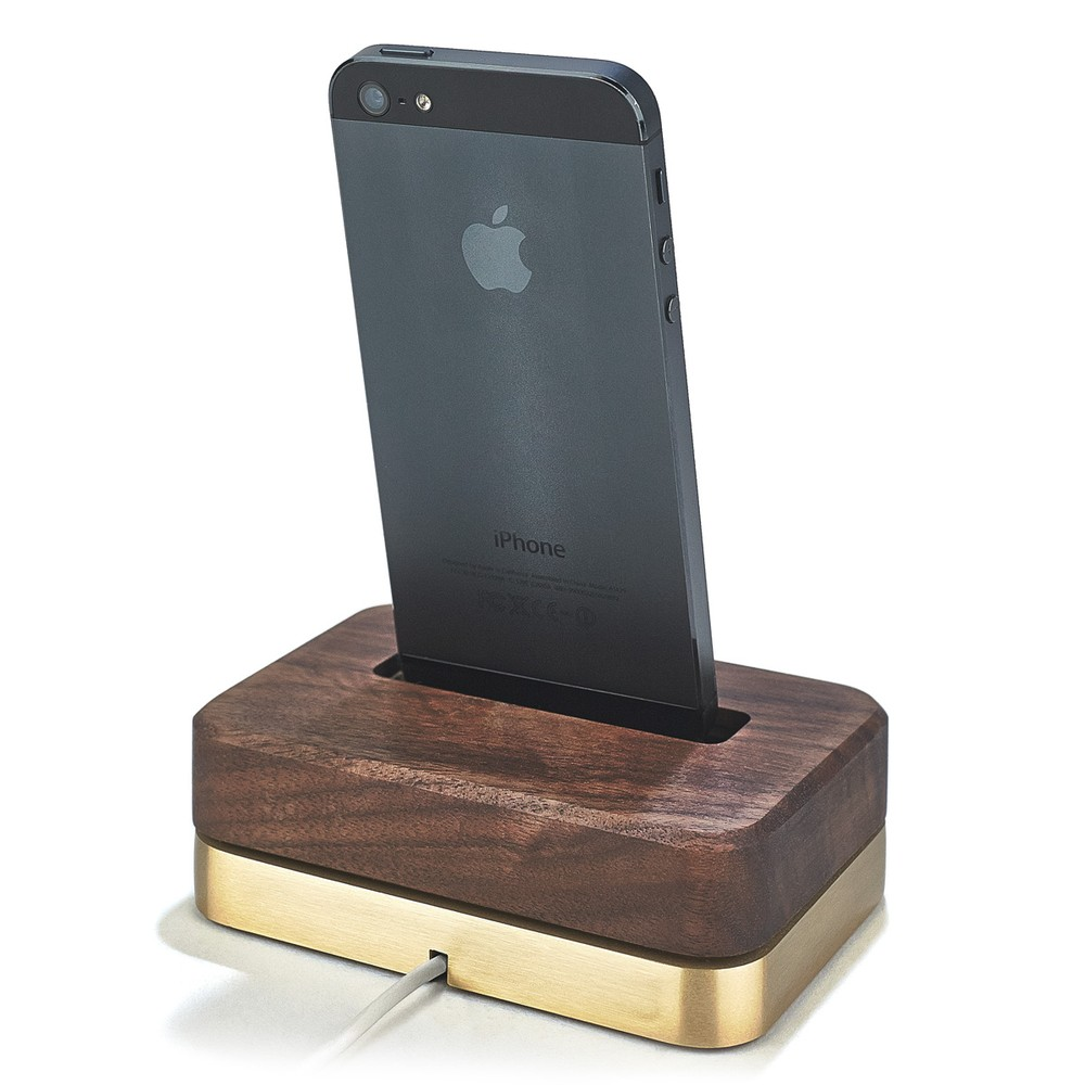 LIMITED EDITION DOCK (BRASS + WALNUT) - IPHONE-5-5S-5C