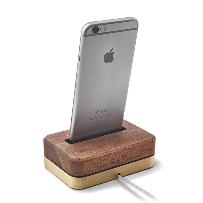 LIMITED EDITION DOCK (BRASS + WALNUT) - IPHONE-6