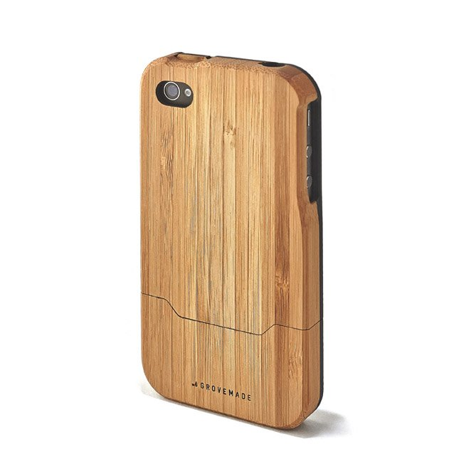 BAMBOO IPHONE CASE - BLACK-4-4S