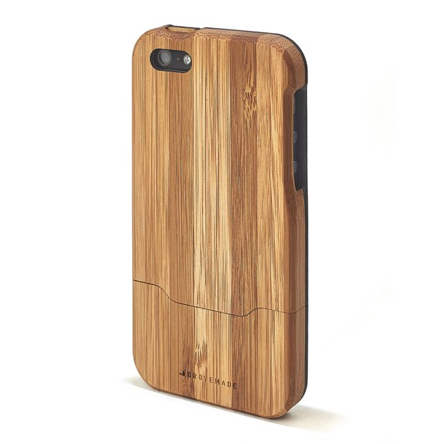 BAMBOO IPHONE CASE - BLACK-5-5S