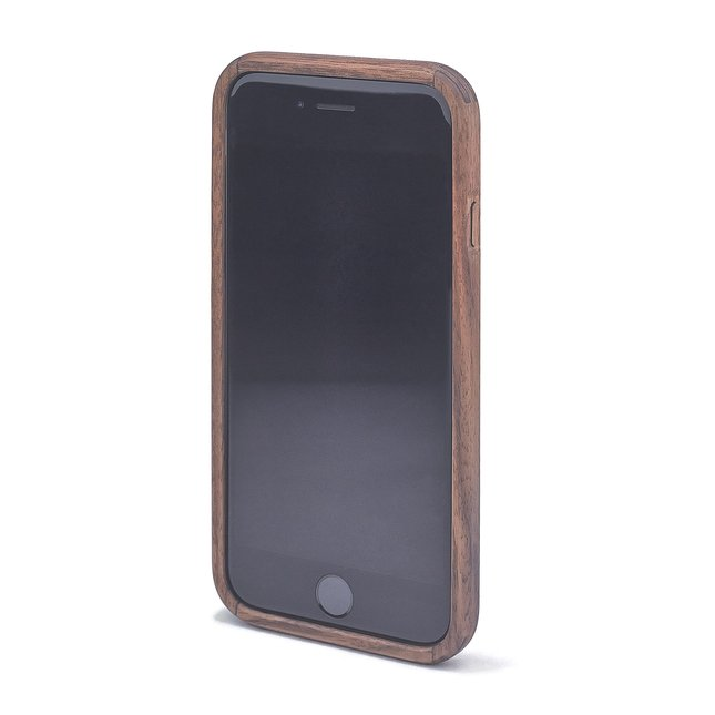 Walnut & Leather iPhone Case - IPHONE-7-BLACK-JET-BLACK