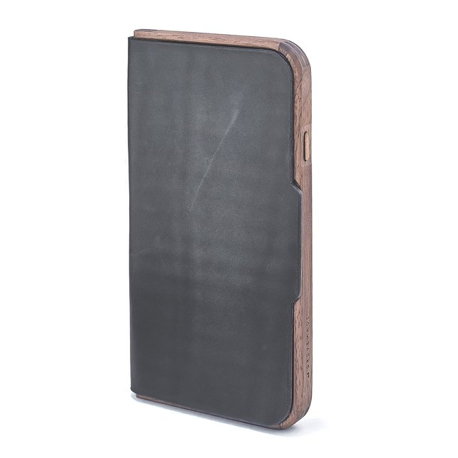WALNUT & LEATHER iPHONE FOLIO - IPHONE-6-6S