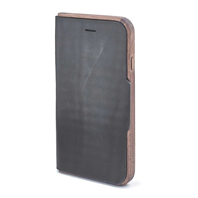 Walnut & Leather iPhone Wallet Case - IPHONE-6-6S