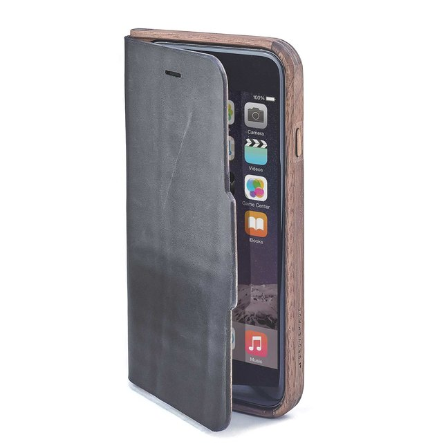 Walnut & Leather iPhone Wallet Case - IPHONE-7