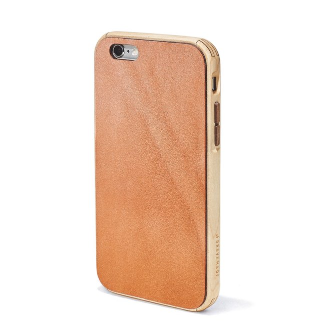 Maple & Leather iPhone Case - IPHONE-7-SILVER-GOLD-ROSE-GOLD-RED