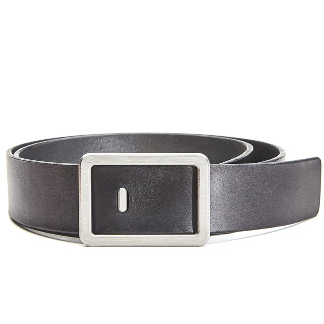 Minimalist Belt (Black/Silver) - MEDIUM-PANT-SIZE-34-36