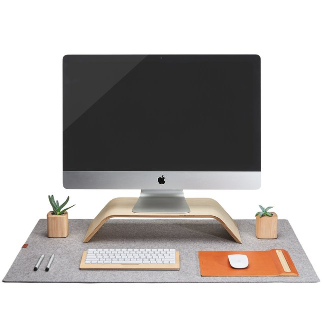 Wool Felt Desk Pad (Light Grey) -