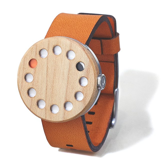 MAPLE WATCH (ROUND) - LEATHER-LONDON-TAN