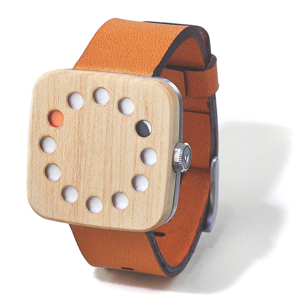 MAPLE WATCH (SQUARE) - LEATHER-LONDON-TAN