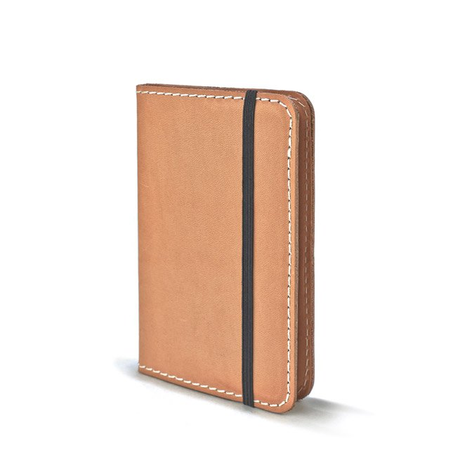 NATURAL LEATHER NOTEBOOK - POCKET-SQUARED