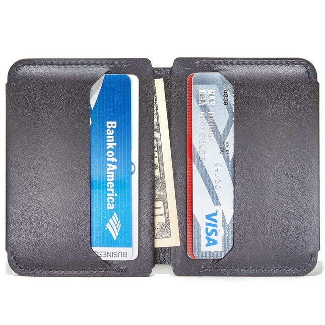 Black Compact Bifold Wallet -