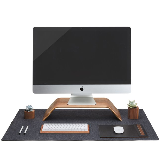 Wool Felt Desk Pad (Dark Grey) -