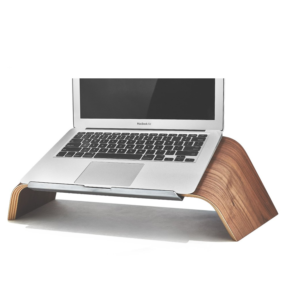 Wood Laptop Stand Walnut Platform Laptop Holder