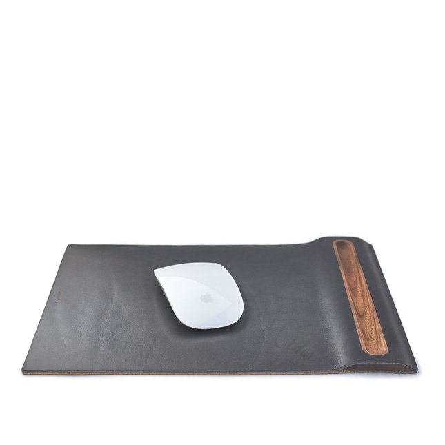 LEATHER & WALNUT MOUSE PAD - WALNUT