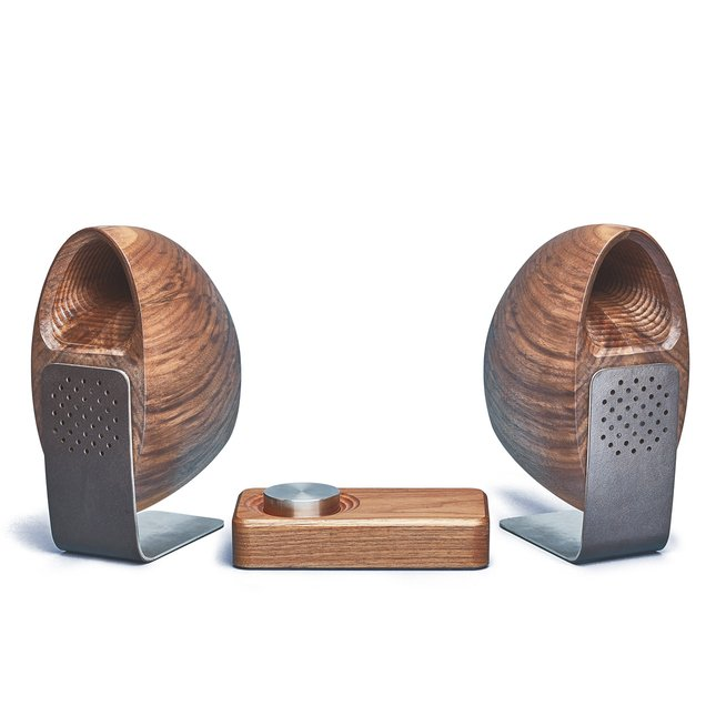 Walnut Speakers & Amp -