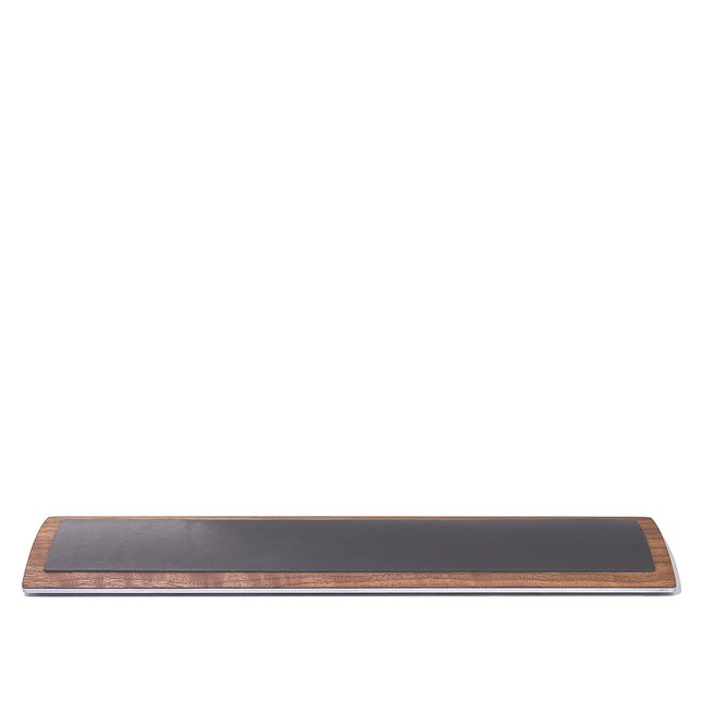Leather & Walnut Keyboard Wrist Pad -