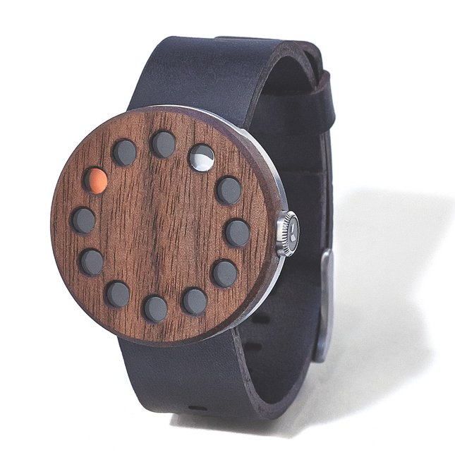 Walnut Watch 01 - ROUND